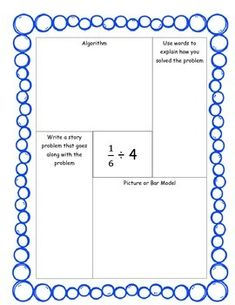 Student practice for dividing fractions by whole numbersThese practice activities allow students to represent dividing a fraction by a whole number in a variety of different ways to demonstrate their understanding of division of fractions.