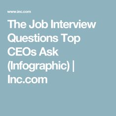 Marvelous 18 Great Interview Questions From Top CEOs (Infographic)
