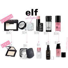 """SPLURGE VS STEAL: elf Dupes"" by iheartlablush on Polyvore"