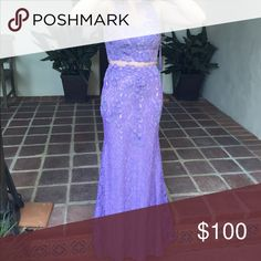 NEED GONE ASAP Prom dress Purple, size small, I'm 5ft. Middle piece is mesh so the whole thing is one piece. Beaded Bralet with breast pads and hips are beaded. Price is very flexible!!! Dresses Prom