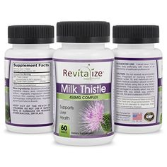 Revitalize Supplements Milk Thistle Extract 450mg Liver Health Supplement  60 Tablets >>> Check out this great product.