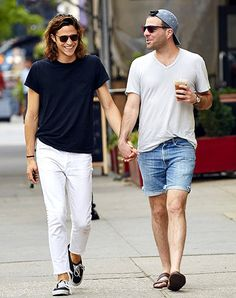 Star Trek Into Darkness actor Zachary Quinto held hands with boyfriend Miles McMillan in New York City's East Village neighborhood on May 28.
