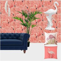 A tropical look is far from complete without some design references from Hawaii! #pink #flamigos #hawaii #discernliving