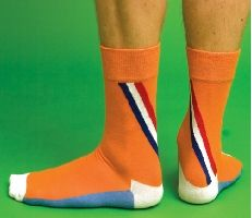 Netherlands Football Happy Socks by Wong Wong