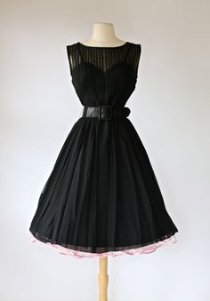 Vintage 1950s Little Black Dress  Vintage 50s by xtabayvintage