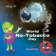 Purple advise Say no to tobacco World No Tobacco Day, Purple Turtle, School Videos, Early Learning, Pre School, Homeschool, Nursery, Digital, Books