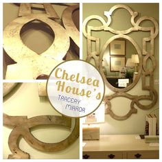 Chelsea House | Designed by Lisa Kahn, the Tracery Mirror looks elegantly regal over a console table or in the foyer! Absolutely beautiful in person at #HPMKT