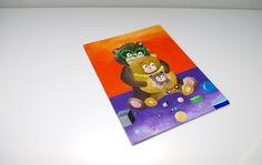 Teddy bear family portrait painting Funny wedding by artbyasta
