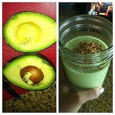 Avocado, Coconut Milk, Coconut Water, Almond Milk, Vega Vanilla Protein Smoothie