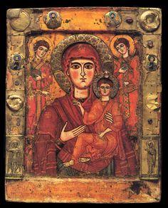 Matka Boska z Dzieciątkiem i archaniołami z klasztoru w Żilkani (IX-XIII w.)