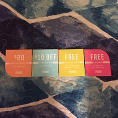 """VS Pink coupons 4 Victoria's Secret Pink coupons that are good till march 12, so get them fast! :) $20 off a """"wear everywhere bra,"""" $10 off a $35 purchase, free boyfriend towel with $75 pink purchase, and a free pink panty with a purchase. Great deals!! Would rather sell on Ⓜ️ for free shipping, just lmk and I'll make a listing on there Victoria's Secret Other"""