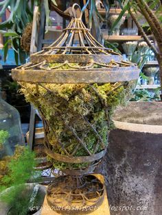 Moss filled urn (from Evi's Country Snippets)