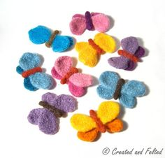 (6) Name: 'Knitting : Butterfly Brooch