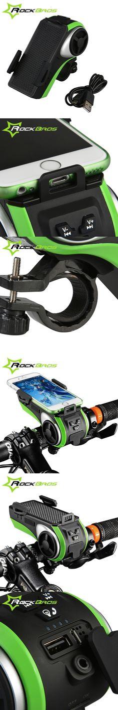 RockBros Bicycle Accessories Bike Light Bicycle Lamp Waterproof Moto Bike Phone Holder Double Led Lights Usb Charger Headlight