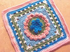 """Project Gallery for Dog Days Afghan 9"""" Beginner Block with 7 Hexagon pattern by Margaret MacInnis ~ Free Pattern"""