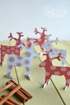 FREE printable reindeer decorations