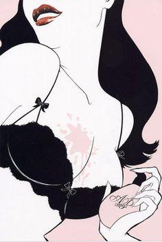 Fashion Illustrations by Richard Gray | Cuded