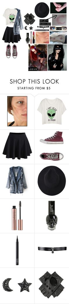 """""""Just an outfit for my Voltron oc"""" by gglloyd ❤ liked on Polyvore featuring Traits, WithChic, Converse, Chanel, NARS Cosmetics, Fallon and Black"""