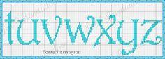 Cross stitch/hama/perler -ABC letters