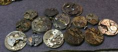 $12.99 real steampunk watch movements mostly complete 14 by mkpdestash