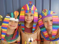 """Fun with Egyptian art! """"All That's Goood: Every Day Life In Ancient Egypt"""" Ancient Egypt Fashion, Ancient Egypt Crafts, Ancient Egypt For Kids, Egyptian Crafts, Egyptian Party, Egyptian Costume, Egyptian Jewelry, Ancient Aliens, Egyptian Mask"""