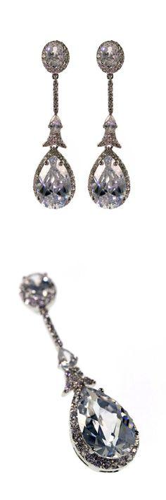 Alexandra Earrings by Stephanie Browne. Available now, £140 #wedding #jewellery #bridal