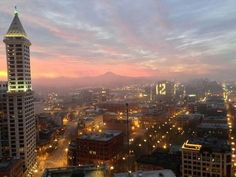 January mrning in Seattle taken from Millennium Tower. Repin the 12s. Go Seahawks!