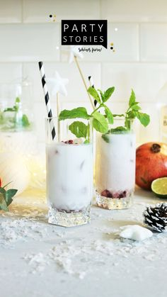 Winter Cocktails, Winter Drink, Slushies, Advent, Panna Cotta, Ethnic Recipes, Food, Party Drinks, New Years Eve Party