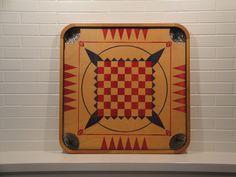 1940s Vintage Carrom Game Board Game Room Wall Decor Display 95. $47.50, via Etsy.