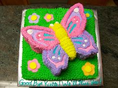 butterfly birthday cake | this cake was made using the butterfly cake pan from nordicware and