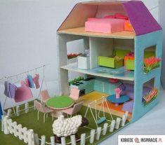 Zobacz zdjęcie Domek dla lalek z kartonu w pełnej rozdzielczości