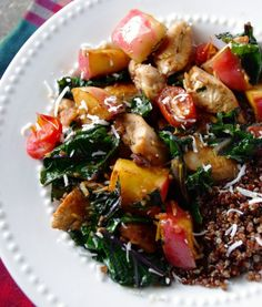Sweet Apple, Chicken & Coconut Saute via Nutritionist in the Kitch ...