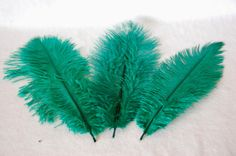 Ostrich's feather  emerald green by FEANORcrafts on Etsy