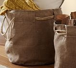 Burlap bags - this would be good for indoor wood storage! And bags for groceries!