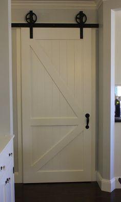 Sliding barn door for pantry