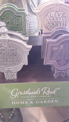 Garden markers are perfect little meditative reminders while you're tending your growing garden
