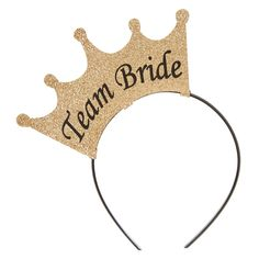 "<P>Get ready for a glam night out on the town for the bride's last hoorah! Rock these shimmering gold ""Team Bride"" crown headbands to let every know who you're with.</P><UL><LI>Gold<LI>""Team Bride""<LI>Felt and plastic<LI>Crown headband<LI>Bachelorette party</LI></UL>"