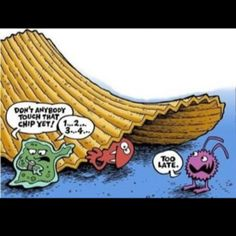 5 second rule!  (makes me laugh that people actually believe this!)