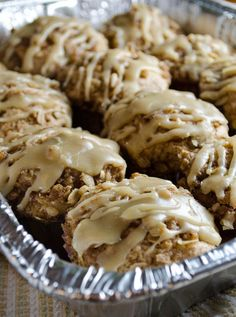 Apple Muffins with Caramel Frosting