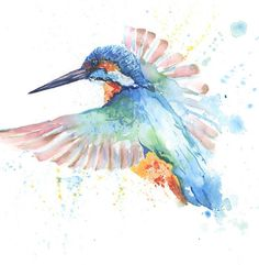 HELEN ROSE Limited Print of my KINGFISHER watercolour painting