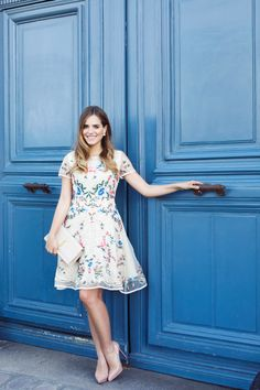 Organza Embroidered Dress - Gal Meets Glam