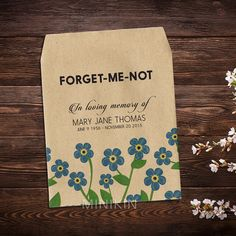 Memorial Gift Personalized Custom Forget Me Not by MinikinGifts