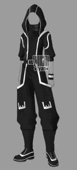 [Closed] Auction BW Outfit men3 by YuiChi-tyan