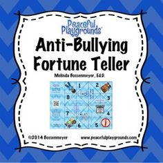 Anti-Bullying+Fortune+Teller+Game+from+Peaceful+Playgrounds+Shop+on+TeachersNotebook.com+-++(5+pages)++-+A+fortune+teller++is+an+origami+used+for+children's+games.++++Use+the+Anti-Bullying+Fortune+Teller+Game+to+practice+Anti-Bullying+sayings+and+strategies.