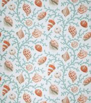 Upholstery Fabric-Eaton Square Coral And Shells-Teal Opt, , hi-res Jo-Anne
