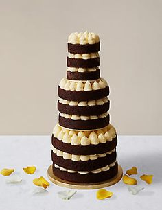 Naked Style Chocolate & Vanilla Wedding Cake (Available to order until 5th February 2018)