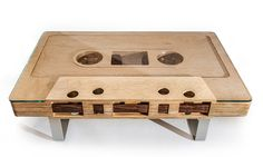 Cassette coffee table by Jeff Skierka Designs #design