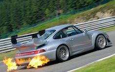 Porsche flames.