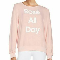 Wildfox Rose All Day Jumper Brand new, never worn or washed. Beautiful color, soft and comfy! Wildfox Sweaters