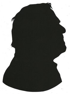"Portrait of a Serial Rapist.  roughly 6.5"" x 9""  cut paper  2012"